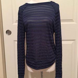 Obey Propaganda Sheer Striped Long Sleeve Shirt